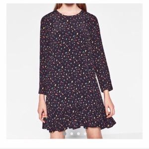 ZARA Trafaluc Drop Waist PrinMini Dress L